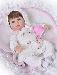 cheap -FeelWind 18 inch Reborn Doll Baby Girl Gift Cute Kids / Teen Full Body Silicone with Clothes and Accessories for Girls' Birthday and Festival Gifts