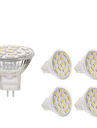 cheap -4pcs 3 W LED Spotlight 240 lm MR11 15 LED Beads SMD 5730 Dimmable Decorative Warm White Cold White 12-24 V
