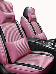 cheap -Car Seat Covers Headrest & Waist Cushion Kits Beige / Coffee / Pink Artificial Leather / synthetic fibre / Polyester Fabric Business / Common For universal All years General Motors