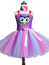 cheap -Owl Tutu Dress for Girls Baby Birthday Party Costume with Flower Headband Outfit