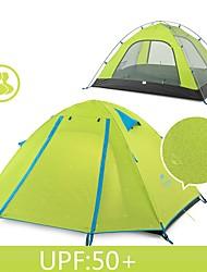 Недорогие -Naturehike 2 человека Туристические палатки На открытом воздухе Водонепроницаемость Дожденепроницаемый Хорошая вентиляция Двухслойные зонты Самораскрывающаяся палатка Сферическая Палатка 2000-3000 mm