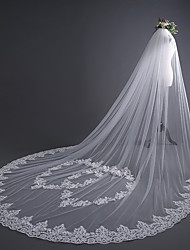 cheap -One-tier Luxury / Sweet Wedding Veil Cathedral Veils with Heart / Appliques 30 cm Tulle / Oval