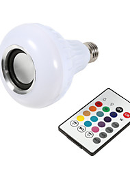 cheap -1pcs Smart E27 12W Ampoule LED Bulb RGB Light Wireless Bluetooth Audio Speaker Music Playing Dimmable Lamp Remote Control