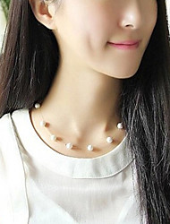 cheap -Women's Necklace Pearl Necklace Pearl Silver 46 cm Necklace Jewelry 1pc For Daily School Street Holiday Festival