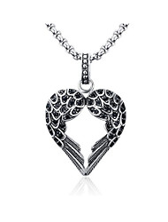 cheap -Men's Cubic Zirconia Pendant Necklace Classic Angel Fashion Stainless Steel Silver 60 cm Necklace Jewelry 1pc For Gift Daily