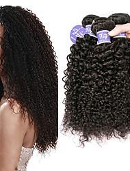 cheap -3 Bundles Brazilian Hair Bouncy Curl Kinky Curly 100% Remy Hair Weave Bundles 150 g Headpiece Natural Color Hair Weaves / Hair Bulk Bundle Hair 8-28 inch Natural Color Human Hair Weaves Extender