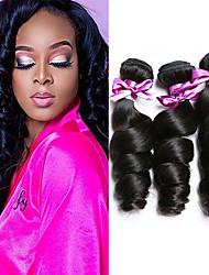 cheap -3 Bundles Malaysian Hair Loose Wave Unprocessed Human Hair 100% Remy Hair Weave Bundles Headpiece Natural Color Hair Weaves / Hair Bulk Bundle Hair 8-28 inch Natural Human Hair Weaves Silky Easy to
