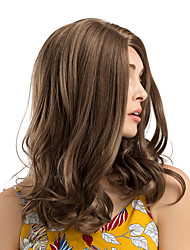 cheap -Synthetic Wig Ombre Curly Natural Wave Middle Part Wig Medium Length Brown Synthetic Hair 18 inch Women's Synthetic New Hot Sale Brown / African American Wig / Doll Wig / For Black Women
