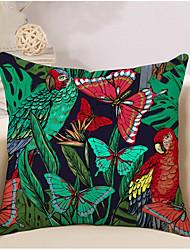 cheap -1 pcs Cotton / Linen Pillow Cover Pillow Case, Special Design Butterfly Animal Artistic Abstract
