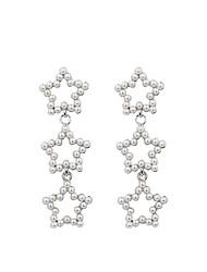 cheap -Women's Drop Earrings Earrings Dangle Earrings Long Star Dangling Bohemian Korean Sweet Imitation Pearl Earrings Jewelry Beige / White For Gift Street Holiday Work Festival 1 Pair