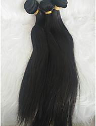 cheap -Braiding Hair Straight Weave Human Hair 3 Pieces Hair Braids Black 14 inch 14 inch Extention Adorable Festival Malaysian Hair