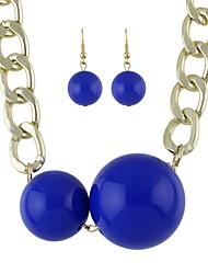 cheap -Women's Drop Earrings Pendant Necklace Geometrical Ball Mood Stylish Trendy Earrings Jewelry Black / Blue For Daily 1 set