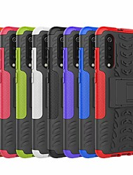 cheap -Case For Xiaomi Xiaomi Mi 9 Shockproof Back Cover Solid Colored / Armor Hard Plastic