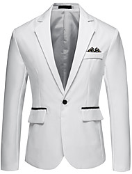 cheap -White / Black / Red Solid Colored / Color Block Regular Fit Acrylic / Polyester Men's Suit - Notch lapel collar