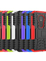 cheap -Case For Motorola Moto Z3 Play / Moto Z4 play / Moto X4 Shockproof / with Stand Back Cover Armor Hard PC