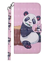 cheap -Case For Nokia Nokia 7.1 / Nokia 6 2018 / Nokia 5 Wallet / Card Holder / with Stand Full Body Cases Panda Hard PU Leather
