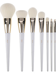 cheap -Professional Makeup Brushes 7pcs Professional Soft Full Coverage Synthetic Artificial Fibre Brush Wooden / Bamboo for Eyeliner Brush Blush Brush Foundation Brush Makeup Brush Lip Brush Eyebrow Brush
