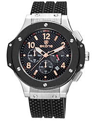 cheap -SKONE Men's Sport Watch Japanese Quartz Outdoor Water Resistant / Waterproof Analog Black / White Gold / White Black / Rose Gold / Two Years / Stainless Steel / Silicone / Calendar / date / day