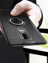 cheap -Case For OnePlus OnePlus 6 / One Plus 6T Shockproof / Plating / Ring Holder Back Cover Solid Colored Soft TPU