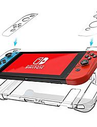 cheap -Cooho Nintendo Switch transparent crystal case Host handle protection case NS transparent PC case