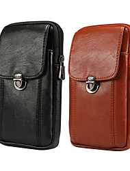 cheap -Case For BlackBerry / Apple / Samsung Galaxy Universal Card Holder Waist Bag / Waistpack Solid Colored Soft PU Leather