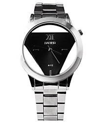 cheap -Men's Sport Watch Quartz Stainless Steel Silver Hollow Engraving Casual Watch Analog Casual Outdoor - White Black