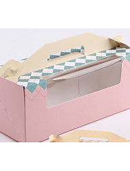 cheap -Cuboid Pure Paper Favor Holder with Sashes / Ribbons Gift Boxes - 10pcs