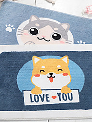 cheap -1pc Cartoon Bath Mats / Bath Rugs Other Leather Type Novelty / Animal Non-Slip / Adorable / Thickening