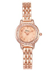 cheap -Women's Quartz Watches Leaves Cartoon Silver Ivory Rose Gold Alloy Chinese Quartz Rose Gold Champagne Ivory Casual Watch Adorable Lovely 30 m 1 pc Analog One Year Battery Life