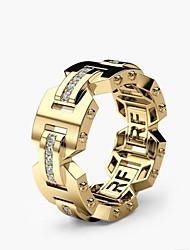 Недорогие -Муж. Жен. Кольца для пары 1шт Золотой Розовое золото Медь Геометрической формы Стиль Обручение Повседневные Бижутерия Классический Радость Острие ножа Милый