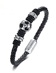 cheap -Men's Loom Bracelet Classic Ball Stylish Titanium Steel Bracelet Jewelry Black For Party Gift