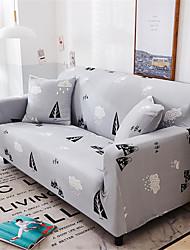 abordables -housse de canapé extensible tout-puissant imprimé noir et blanc Housse de canapé en tissu super doux avec une taie d'oreiller gratuite