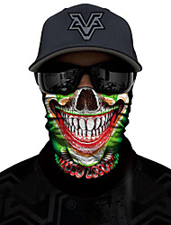 cheap -Skeleton / Skull Cosplay Costume Mask Adults' Men's Cosplay Halloween Halloween Carnival Masquerade Festival / Holiday Polyster Green / Red+Black / Black / Orange Carnival Costumes Cool Skulls