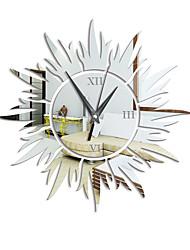 cheap -3D DIY Wall Clock Decor Sticker Mirror DIY Acrylic Wall Clock Kit for Home Living Room Bedroom Office Decoration