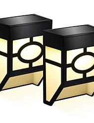 Недорогие -2pcs 0.5 W Солнечный свет стены Работает от солнечной энергии / Новый дизайн Тёплый белый / Холодный белый 3.7 V Уличное освещение / двор / Сад 2 Светодиодные бусины