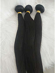 cheap -Braiding Hair Straight Weave Human Hair 3 Pieces Hair Braids Black 16 inch 16 inch Extention Daily Wear Brazilian Hair