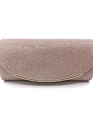 cheap -Women's Bags Polyester Evening Bag Chain Solid Color for Wedding / Party / Event / Party Black / Champagne / Gold / Silver / Wedding Bags