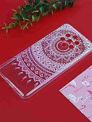 cheap -Case For Nokia Nokia 9 / Nokia 7 Plus / Nokia 6 Translucent / Pattern Back Cover Flower Soft TPU