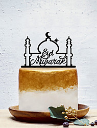 cheap -Cake Topper Classic Theme / Creative / Religious Artistic / Retro / Unique Design Acrylic Special Occasion / Party Evening with Solid 1 pcs OPP