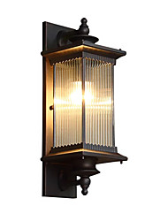 cheap -QINGMING® Waterproof Mini Style Retro Country Flush Mount wall Lights Outdoor Wall Lights Outdoor Lights Garden Metal Wall Light IP65 110-120V 220-240V 60 W