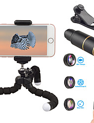 cheap -Mobile Phone Lens Fish-Eye Lens / Long Focal Lens / Wide-Angle Lens Glasses / Aluminium Alloy 10X and above 32 mm 3 m 9 ° Lens with Stand / New Design