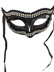 cheap -Cosplay Costume Mask Masquerade Mask Inspired by Super Heroes Black White Cosplay Halloween Halloween Carnival Masquerade Adults' Men's Boys'