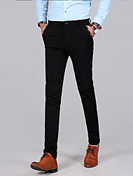 cheap -Men's Basic Suits / Chinos Pants - Solid Colored Black Navy Blue 30 31 32