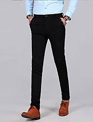 abordables -Homme Basique Costume / Chino Pantalon - Couleur Pleine Noir Bleu Marine 30 31 32
