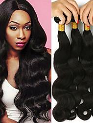 cheap -4 Bundles Brazilian Hair Body Wave Remy Human Hair Headpiece Natural Color Hair Weaves / Hair Bulk Extension 8-28inch Natural Color Human Hair Weaves Newborn Waterfall Mini Human Hair Extensions