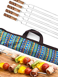 cheap -Marshmallow Roasting Sticks 5 sets Portable Easy to Install for Stainless Steel Outdoor Picnic Blue
