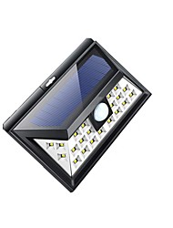 cheap -1pc 0.5 W Solar Wall Light Solar / New Design / Motion Detection Monitor Cold White 3.7 V Courtyard / Garden 24 LED Beads
