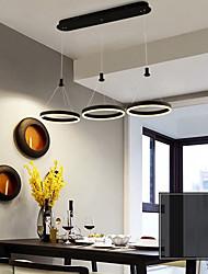 cheap -3-Light 30 cm Multi-shade / Adjustable Chandelier Aluminum Acrylic Circle Painted Finishes LED / Modern 110-120V / 220-240V