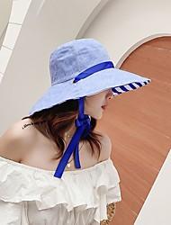cheap -Women's Basic Cotton Sun Hat-Striped Blue Blushing Pink