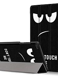 cheap -Case For Lenovo Lenovo Tab E8(TB-8304F) / Lenovo Tab E7(TB-7104) / Lenovo Tab 7 Essential Shockproof / Flip / Origami Full Body Cases Cartoon Hard PU Leather